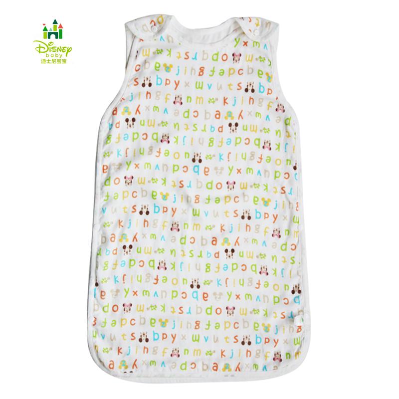 迪士尼宝宝纱布背心睡袋 儿童防踢被 婴儿睡袋 夏季薄款