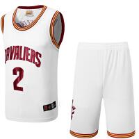 骑士队2号欧文 23号詹姆斯球服训练队服 篮球服套装新面料男士球衣球裤