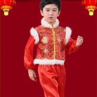 儿童女款红色民族舞表演服装女童汉族秧歌舞演出服装幼儿圣诞元旦舞蹈男款红色服女款红色男