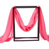 春秋天桑蚕丝丝巾长款秋冬季女士丝围巾披肩两用纯色红纱巾