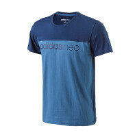 adidas阿迪达斯NEO男装短袖T恤2017年新款运动服BQ0591