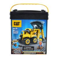 [当当自营]CAT 卡特 建筑拼装系列 倾斜卡车装载机初级操作员(中号桶装)80911