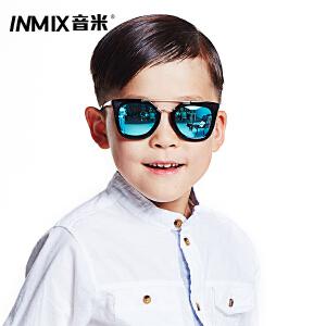 音米2016新款复古摩登儿童偏光太阳镜男女防紫外线遮阳偏光儿童墨镜 AAYBPY854