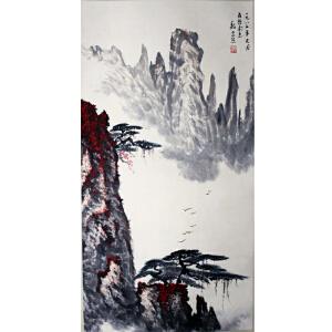 魏紫熙《山水立轴》著名山水画家