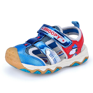 史努比夏季新品儿童机能凉鞋包头防踢男童鞋2-8岁健康机能鞋凉鞋