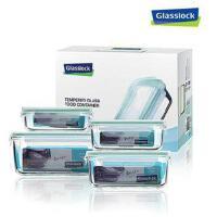 GlassLock三光云彩 乐扣玻璃保鲜盒便当盒4件套装GL05-4ABCD