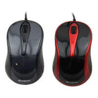 双飞燕 N-360 针光有线USB商务办公笔记本电脑鼠标
