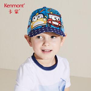 卡蒙3-6岁儿童防晒帽全棉卡通棒球帽女沙滩粉色棒球帽男宝宝凉帽4783
