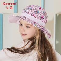 卡蒙3-6岁渔夫帽儿童女宝宝遮阳帽可折叠出游女童防晒帽子大沿帽4790