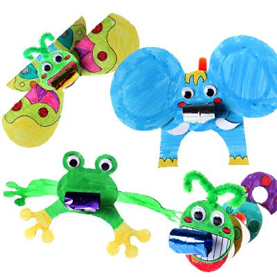 艺趣创意diy手工制作材料包幼儿园儿童益智玩具卡通动物吹龙