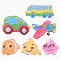 儿童玩具 diy制作 贴图片 超轻粘土珍珠泥雪花泥专用 贴图模板批发 EF27010