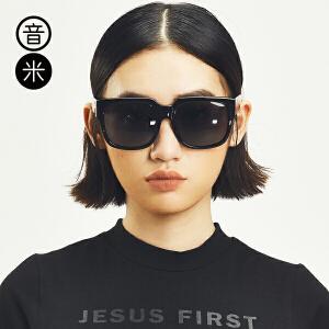 音米大框板材墨镜女偏光复古圆脸眼镜男开车可配近视警察太阳镜潮 5087