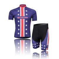 XINTOWN红蓝紫星骑行服短袖情侣套装自行车服夏季吸湿排汗速干衣