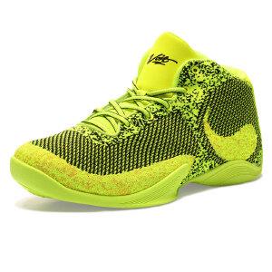 沃特透气篮球鞋男高帮品牌运动鞋休闲鞋防滑耐磨战靴