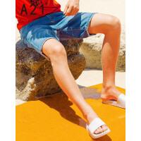 以纯线上品牌a21 2017夏装新款牛仔短裤男休闲低腰百搭短裤五分裤