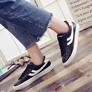 环球  女鞋小白鞋夏季女2017新款百搭韩版休闲鞋平底运动鞋学生板鞋