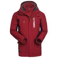 探路者(TOREAD)户外男式保暖套绒三合一冲锋衣TAWC91554