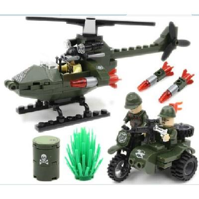 启蒙积木拼装玩具◆军事系列 追击 806