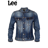 Lee男装商场同款时休闲牛仔夹克短外套青年水洗牛仔长袖夹克L15059H461DV
