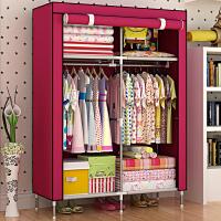 蜗家 迷你型挂式布衣橱 储物柜 收纳柜 时尚收纳盒  防潮加高加固布衣柜8503