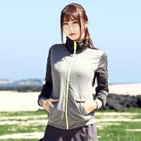 探路者2016夏季新款户外女式弹力防水防风速干跑步外套KAEF82400