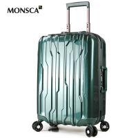 摩斯卡Monsca防刮PC拉杆箱万向轮 铝框登机箱行李箱旅行箱男女20寸24寸28寸