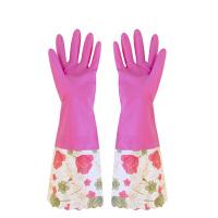魅洁中长款敞口家用加绒保暖手套 颜色随机