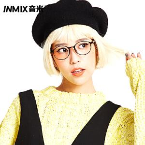 音米TR90超轻眼镜框女韩版潮 复古圆框眼镜架配近视眼镜2550