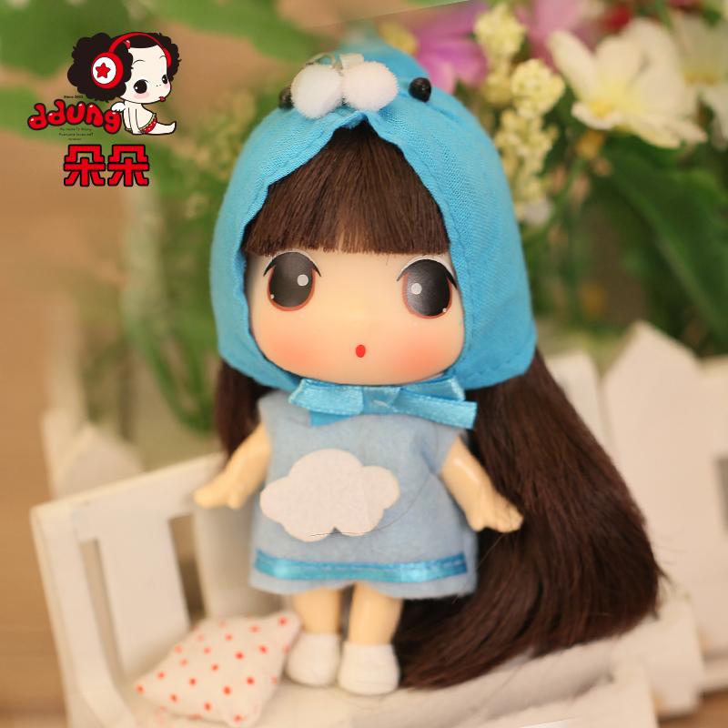 ddung/冬己韩国迷糊娃娃 9cm卡通可爱儿童玩具迷你小芭比娃娃_朵朵