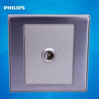 飞利浦墙壁插座面板86型金属系列Q8 801TV单孔有限电视插座