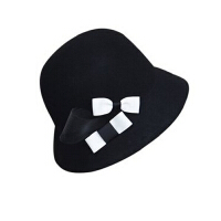 盆帽羊毛呢 100%羊毛昵渔夫帽 英伦礼帽 秋冬 短檐帽 女