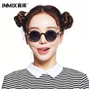 音米2016新款复古圆框金属太阳镜超人男女圆形复古韩版品牌墨镜 AASAPY002
