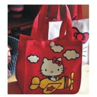 陆捌壹肆 萌物 hello kitty 双面印花 小便当包 饭盒包 手拎包 便当袋 1个装