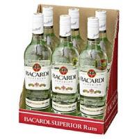 Bacardi 百加得白朗姆酒750ml*6瓶   USA美国进口