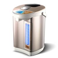 奥克斯(AUX)HX-8186电热水瓶保温水壶烧水壶开5L家用304不锈钢(香槟色)