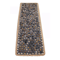 彩诺狐 足底按摩垫 走毯中医健康天然鹅卵石脚底部足疗老年人保健雨花石