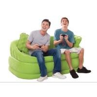 INTEX-68573豪华植绒双人充气沙发床懒人沙发