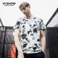 viishow夏装新款短袖T恤 欧美街头潮流短袖男 3d印花纯棉T恤
