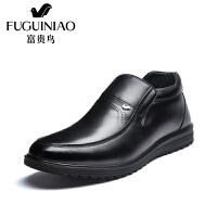 富贵鸟棉鞋男鞋冬季加绒保暖高帮鞋男士商务休闲皮鞋爸爸鞋子