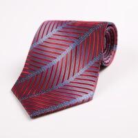 正装商务领带男士结婚领带红色 职业装团体黑色斜纹领带