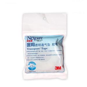 3M 耐适康 胶带 透明通气型胶带 医用胶带1527C-0