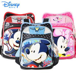 迪士尼卡通小学生书包1-4年级米奇男女童透气双肩背包MB0301