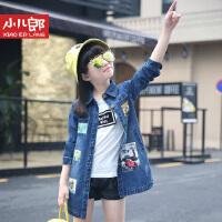 儿童装2016新款春装女童时尚韩版牛仔上衣女孩春季牛仔外套风衣学生春秋外套1690