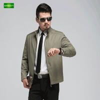 逸纯印品(EASZin)男士夹克衫 中年 立领 短款 拉链 薄款男装 休闲外套