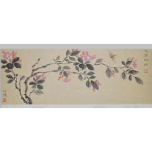 石文学《五月梅花》新乐市美协秘书长,中国工笔画家协会会员