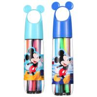 迪士尼(Disney)儿童水彩笔18色可水洗无毒D01387颜色随机 宝宝画笔幼儿涂鸦小学生创意笔 当当自营