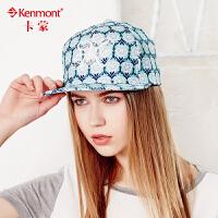 kenmont帽子韩版潮平沿帽女夏天遮阳字母嘻哈帽休闲鸭舌帽棒球帽3384