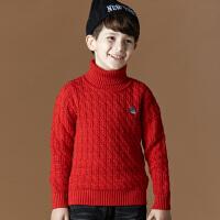 童男童毛衣套头儿童纯色打底衫纯棉高领针织童装中大童秋冬学生针织衫套头毛衣线衫1503 支持货到付款
