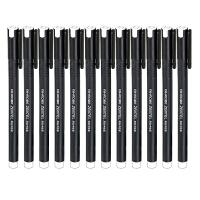 爱好 8620商务中性笔(12支装)黑色墨水全针管创意文具签字水笔商务笔碳素笔芯办公用品文具 当当自营