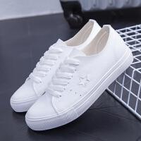 匡王2017夏季新款女鞋小白鞋子韩版系带帆布鞋学生百搭休闲鞋平底板鞋
